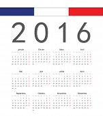 Simple French 2017 Year Vector Calendar