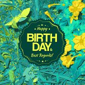 Best Regards Label For Birthday Card