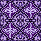Seamless abstract purple Celtic vector pattern.
