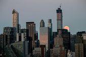 Super Moon Over Manhattan