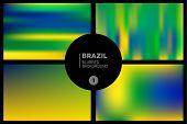 Brazil Colors Blurred Backgrounds Set