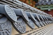 Detail Of Korean Traditional Roof Tiles In Gyeongbokgung