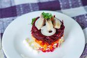 Russian Traditional Herring Salad