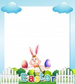 Illustration of an Easter Sunday empty card template