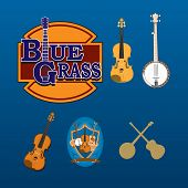 Vector Set of Bluegrass Instruments