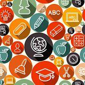 School Seamless Pattern Illustration
