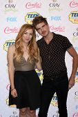 LOS ANGELES - AUG 10:  Meghan Camarena, Joey Graceffa at the 2014 Teen Choice Awards Press Room at S