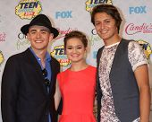LOS ANGELES - AUG 10:  Charlie Rowe, Ciara Bravo, Nolan A. Sotillo at the 2014 Teen Choice Awards Press Room at Shrine Auditorium on August 10, 2014 in Los Angeles, CA