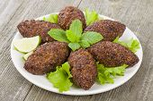 foto of oblong  - Kibbeh  - JPG
