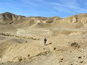 Hiking in Wadi Zeelim. Judean Desert