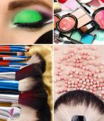 Picture of make-up collage.