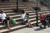 Breastfeeding on City Hall steps