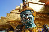 Demon Guardian at  Wat Phra Keaw , Thailand