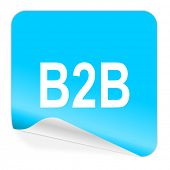 b2b blue sticker icon