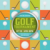 Golf Tournament Illustration