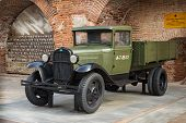 Russia, Nizhny Novgorod - Aug 06, 2014: Soviet Car  During The Second World War Gaz-aa  Outdoor Exhi
