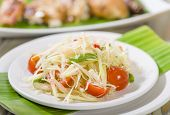 picture of green papaya salad  - Som Tam Thai  - JPG
