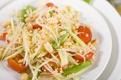 pic of green papaya salad  - Som Tam Thai  - JPG