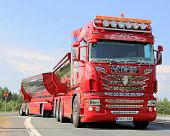 Show Truck Scania R480 The Chief In Lempaala, Finland