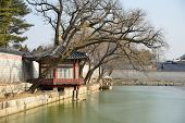 Pavilion Of Gyeonghoeru Pond In Gyeongbokgung