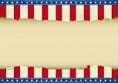 American horizontal background. An horizontal american poster with a empty space for your message. Perfect size for your screen, your  touch-pad....
