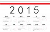 Polish 2015 Year Vector Calendar