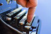 Close Up Of Vintage Typewriter.