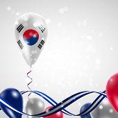 foto of balloon  - Flag of the Republic of Korea on balloon - JPG
