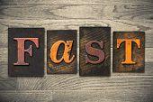 Fast Concept Wooden Letterpress Type