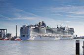 New Cruise Ship Leaving Rotterdam, June 21-2010