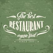 Retro Organic Food  Restaurant Poster