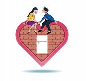 Lover Express Love On Heart Shape Home
