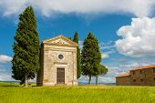Small church  in Val d Orcia