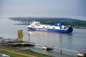 DFDS SEAWAYS ship OPTIMA entering Klaipeda harbor