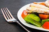 Mackerel With Salad