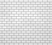 White new brick wall texture and seamless background
