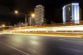 Broadbeach nightscape, G:link light rail