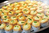 Tray Of Savory Vol Au Vent Appetizers