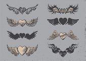 Tattoo hearts.