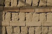 Close Up Of Old Soiled Brick Wall In The Bulgaria