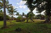 playground on a Isla de Pascua. Rapa Nui. Easter Island