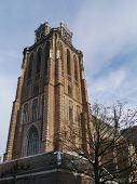 picture of church  - The Church of Our Lady or Grote Kerk in Dordrecht in the Netherlands is a medieval Protestant church - JPG