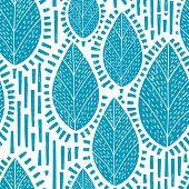 Seamless Retro Tree And Leaf Pattern