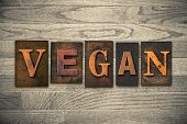Vegan Concept Wooden Letterpress Type