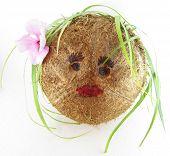 Coconut Girl With Tea Leaf Hair