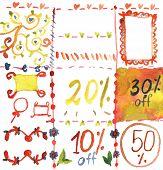 Sale design elements for spring