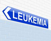 image of leukemia  - Illustration depicting a sign with a Leukemia concept - JPG