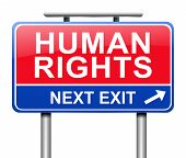 stock photo of human rights  - Illustration depicting a sign with a Human Rights concept - JPG