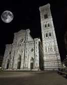 Florence Cathedral With Full Moon