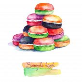 Colorful Watercolors Macaroons